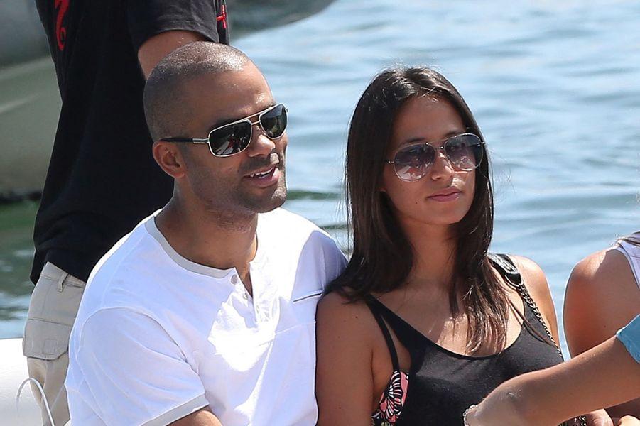 Axelle et Tony Parker à Saint-Tropez en août 2013
