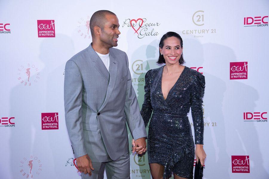 Axelle et Tony Parker à la soirée de l'association Par Coeur Gala à Paris en octobre 2019