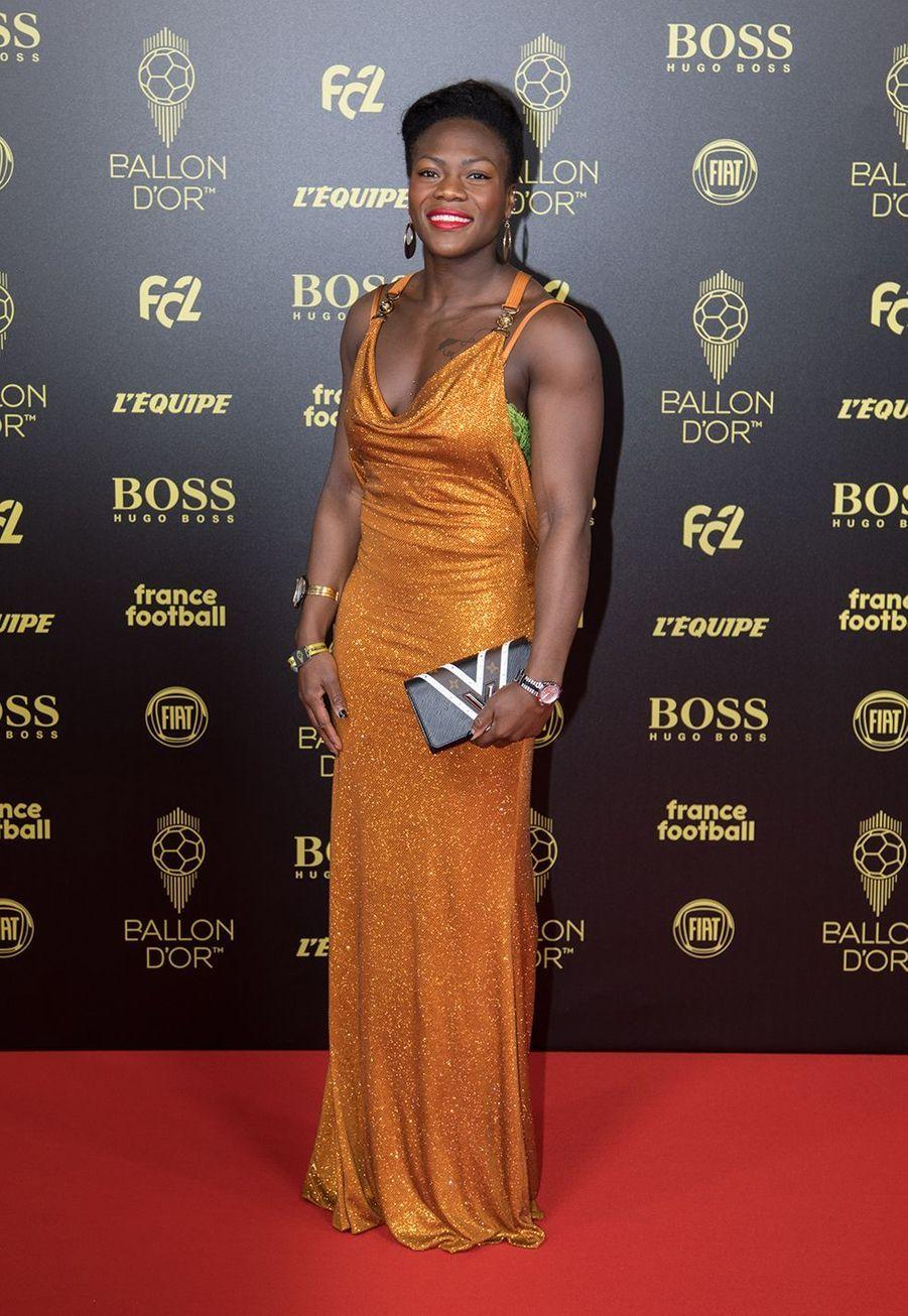 Clarisse Agbegnenouà la cérémonie du Ballon d'Or 2019 à Paris le 2 décembre 2019