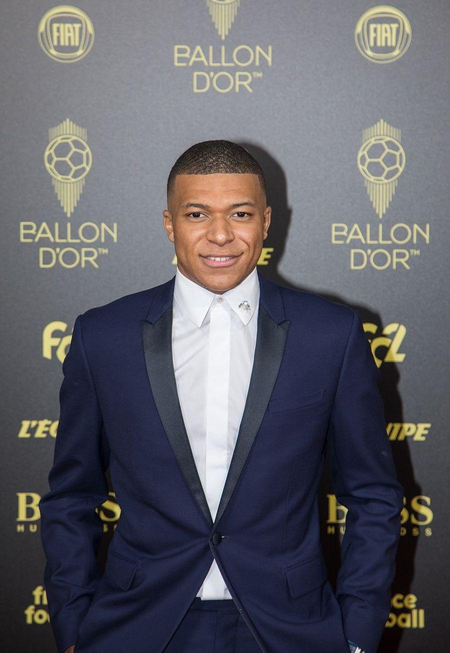 Kylian Mbappéà la cérémonie du Ballon d'Or 2019 à Paris le 2 décembre 2019