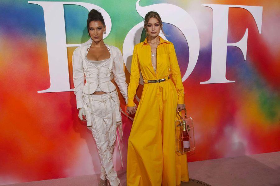 Bella et Gigi Hadid à la soirée Business of Fashion, à New York le 9 septembre 2018