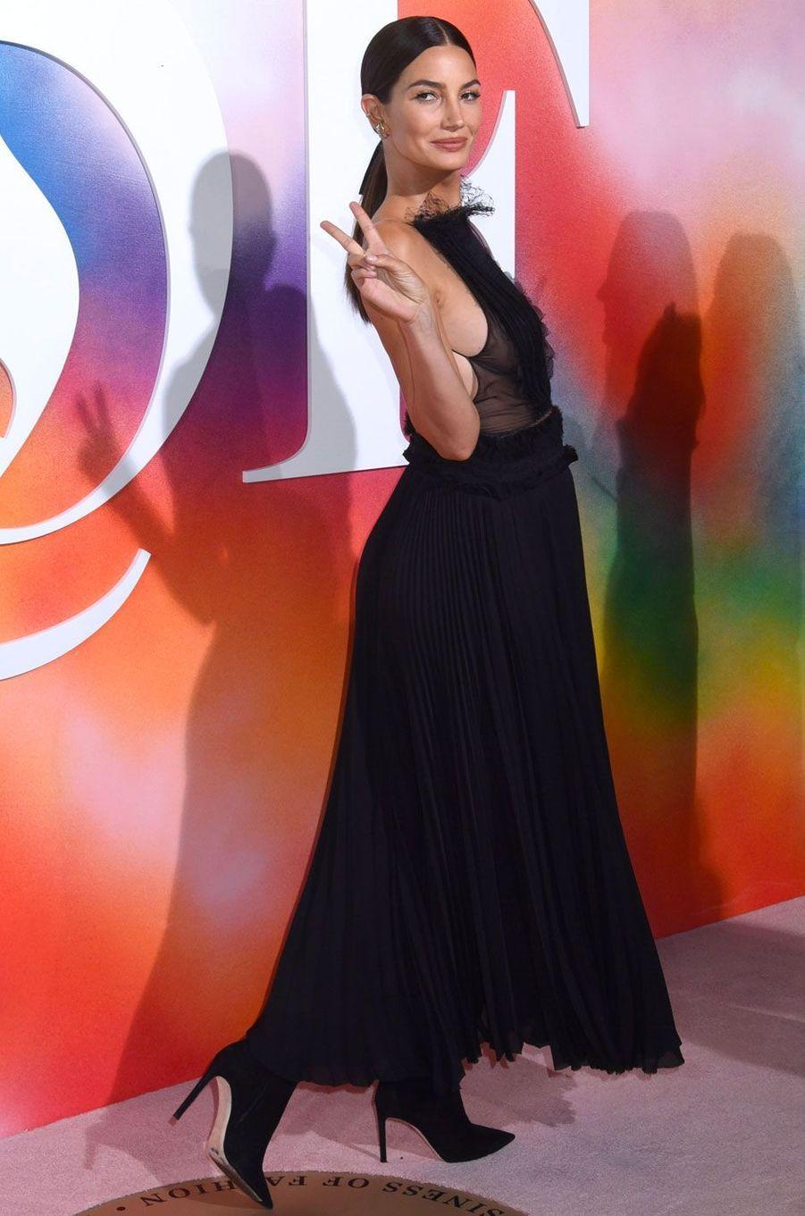 Lily Aldridge à la soirée Business of Fashion, à New York le 9 septembre 2018