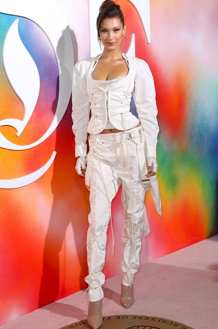 Bella Hadid à la soirée Business of Fashion, à New York le 9 septembre 2018