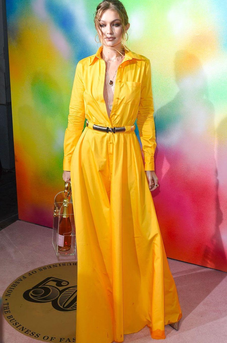 Gigi Hadid à la soirée Business of Fashion, à New York le 9 septembre 2018