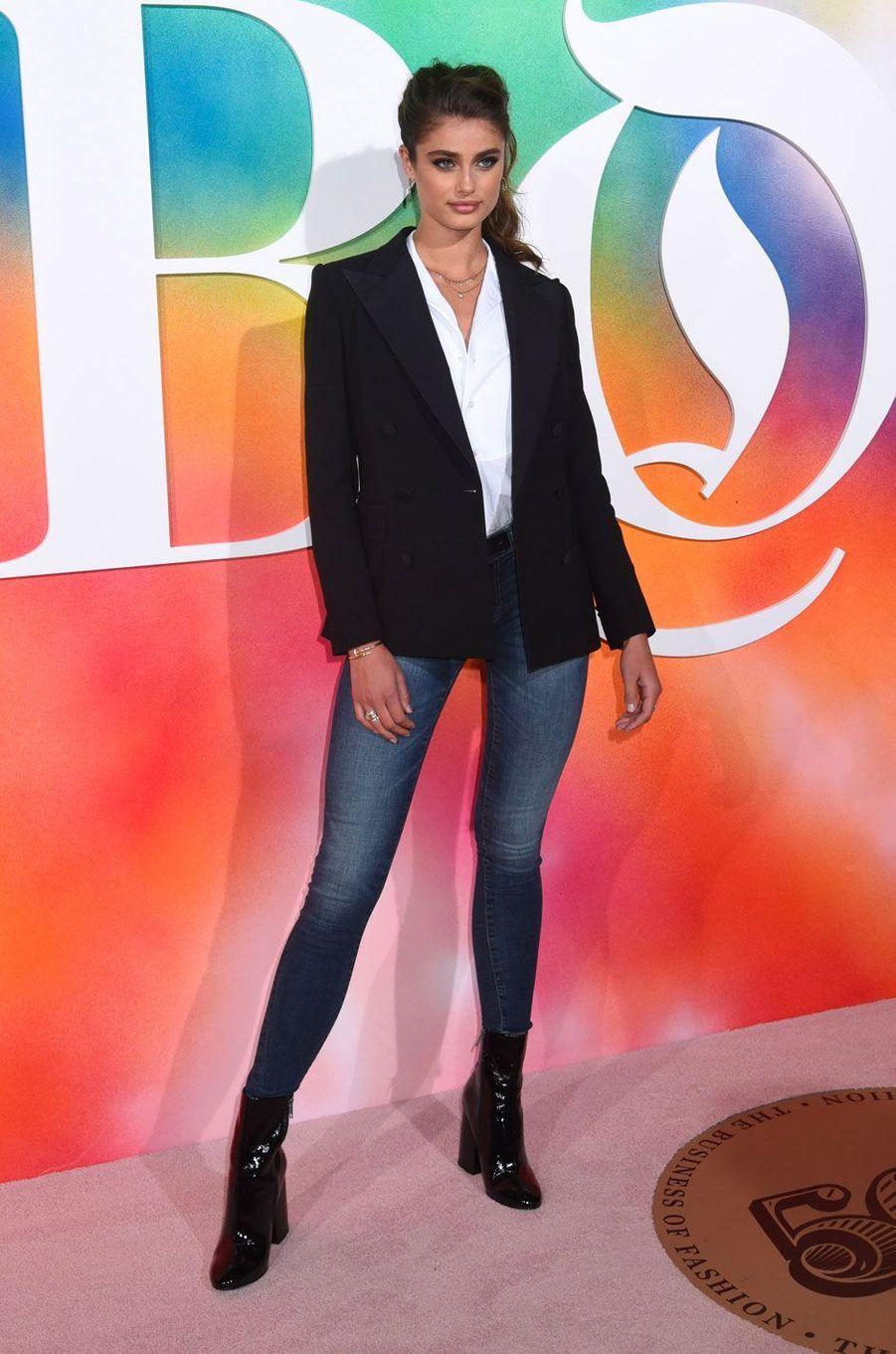 Taylor Hill à la soirée Business of Fashion, à New York le 9 septembre 2018
