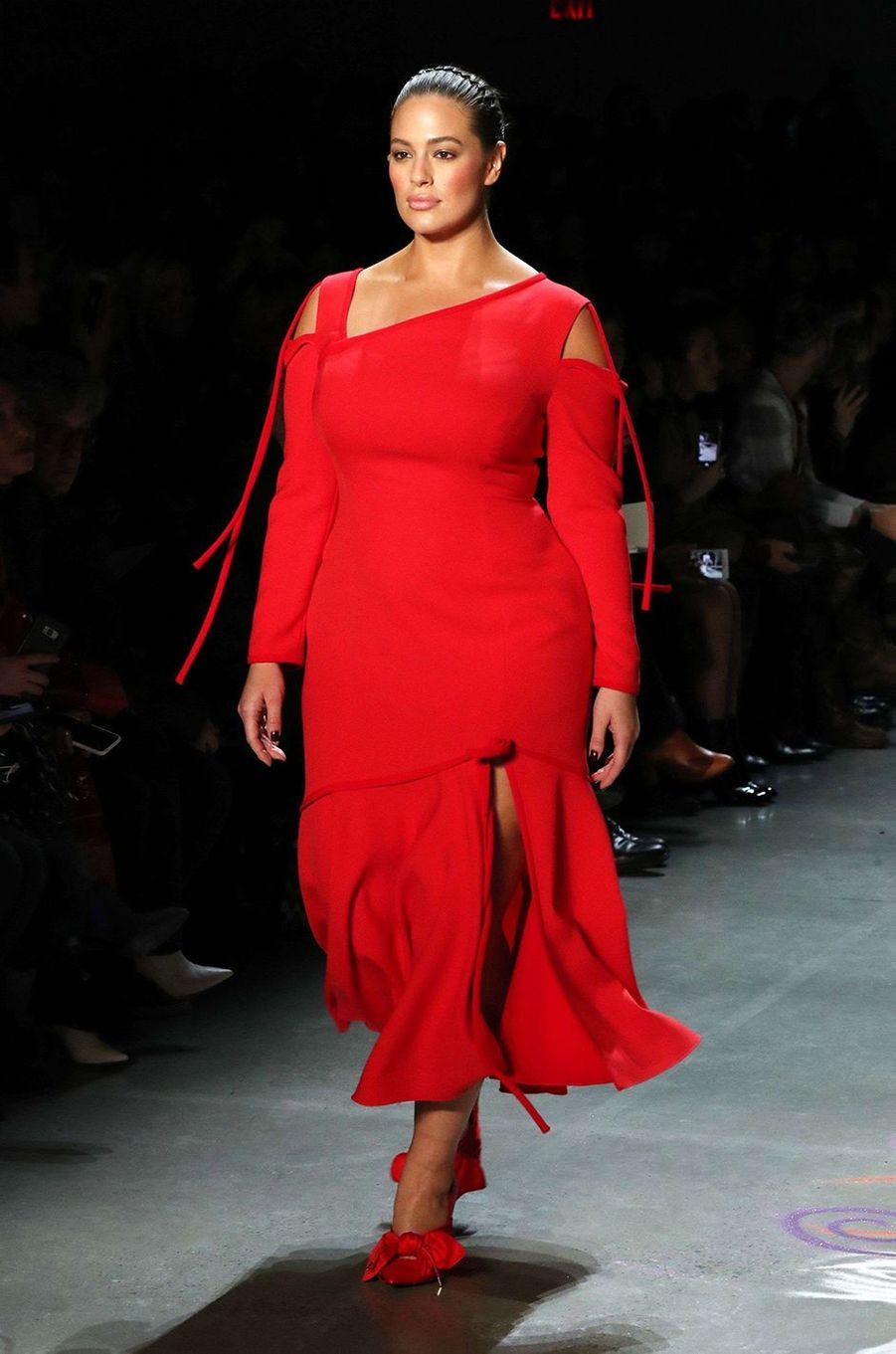 Ashley Graham au défilé de Prabal Gurung à New York, le 11 février 2018.