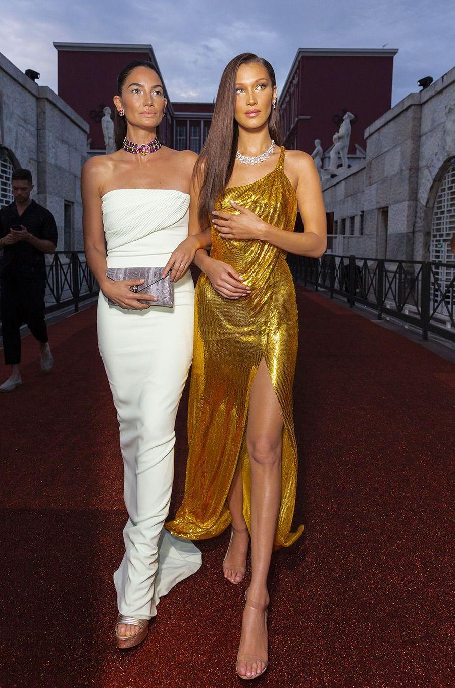 Lily Aldridge et Bella Hadid au Gala Bulgari à Rome, jeudi 28 juin 2018
