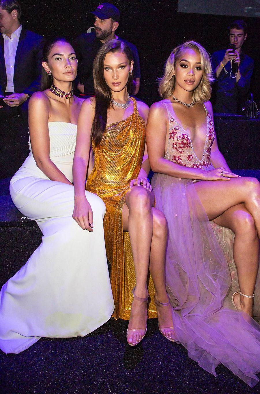 Lily Aldridge, Bella Hadid et Jasmine Sanders au Gala Bulgari à Rome, jeudi 28 juin 2018