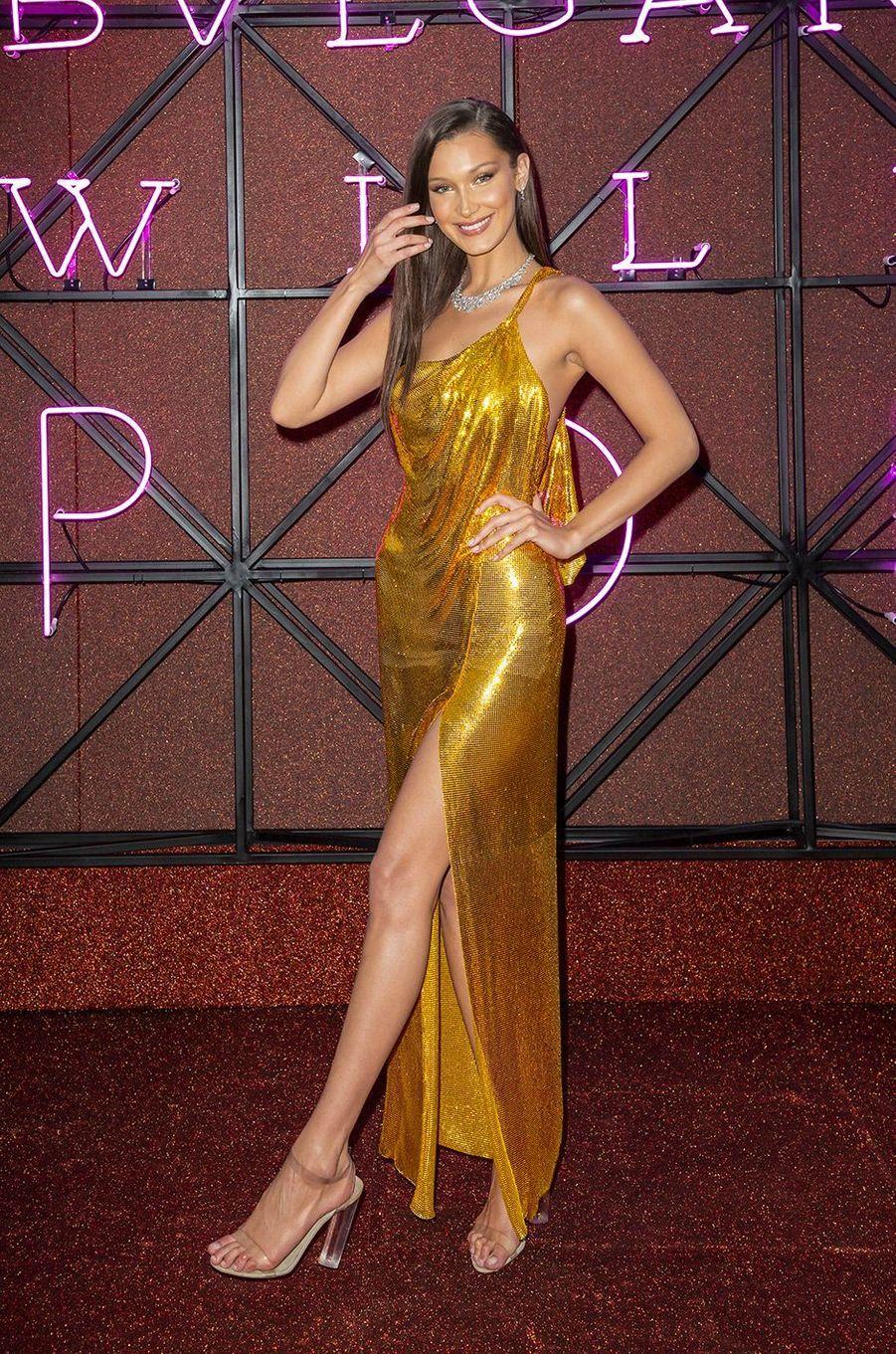 Bella Hadid au Gala Bulgari à Rome, jeudi 28 juin 2018