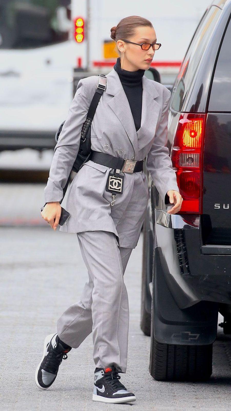 Bella Hadid au défilé Alexander Wang à New York le 3 juin 2018