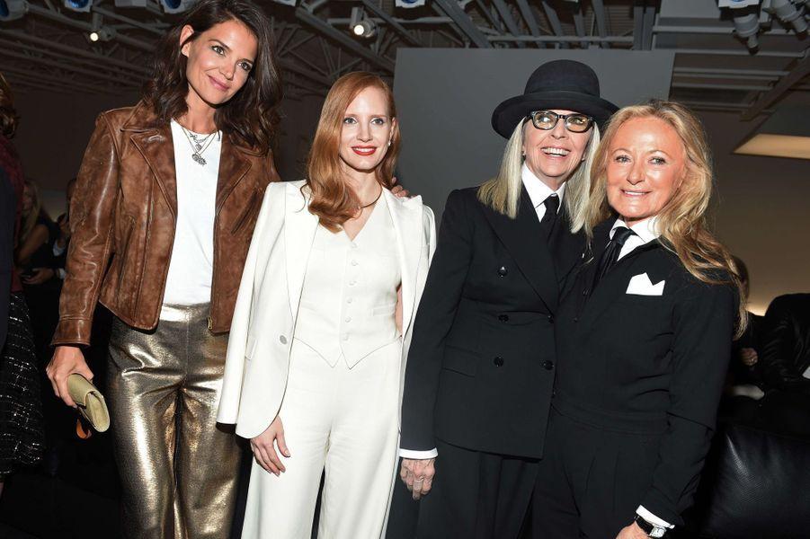 Katie Holmes, Jessica Chastain, Diane Keaton et Ricky Lauren.