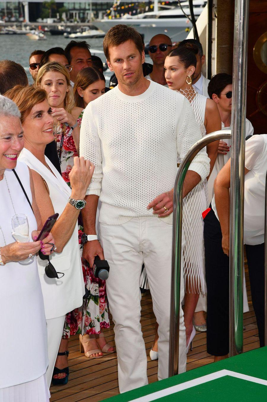 Tom Brady à la soirée Tag Heuer, lors du Grand Prix de Monaco.
