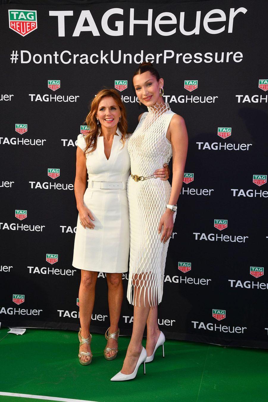 Geri Halliwell et Bella Hadidà la soirée Tag Heuer, lors du Grand Prix de Monaco.
