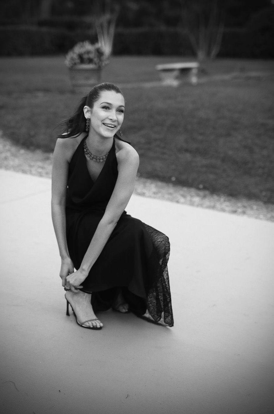 Bella Hadid au gala de l'amfAR 2016.