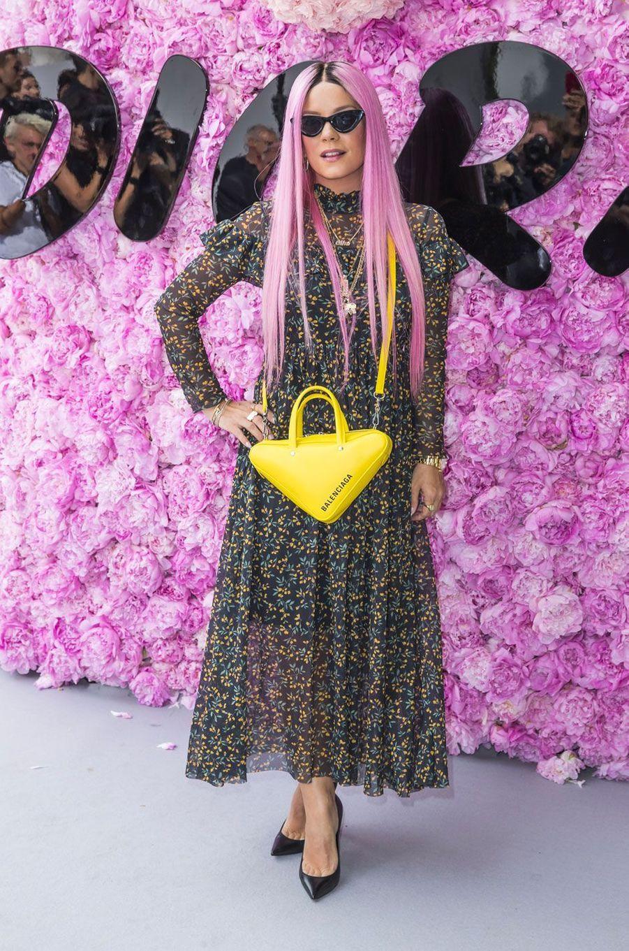 Lily Allen au défilé Dior Homme, à Paris le 23 juin 2018