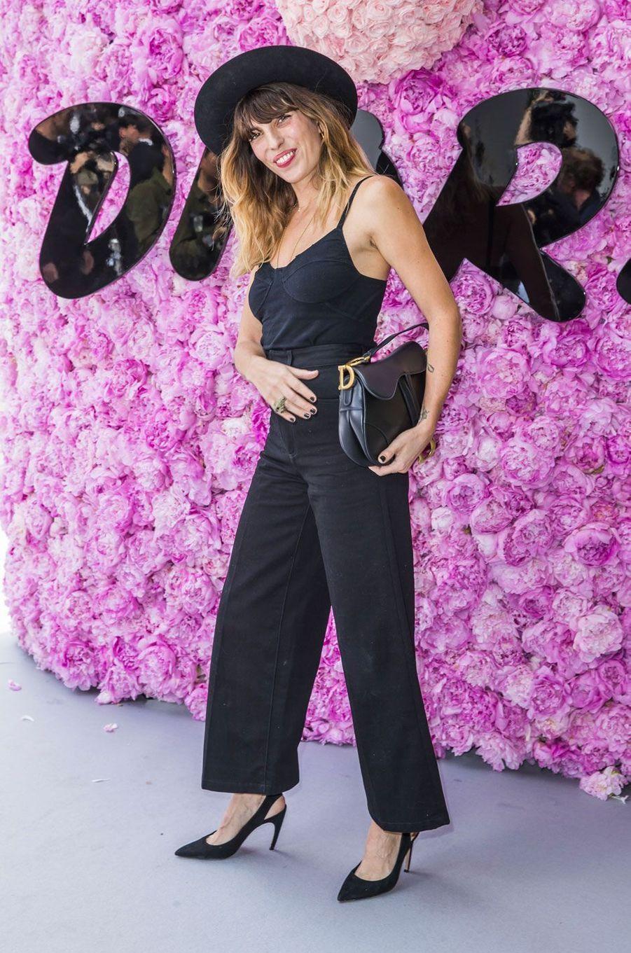 Lou Doillon au défilé Dior Homme, à Paris le 23 juin 2018