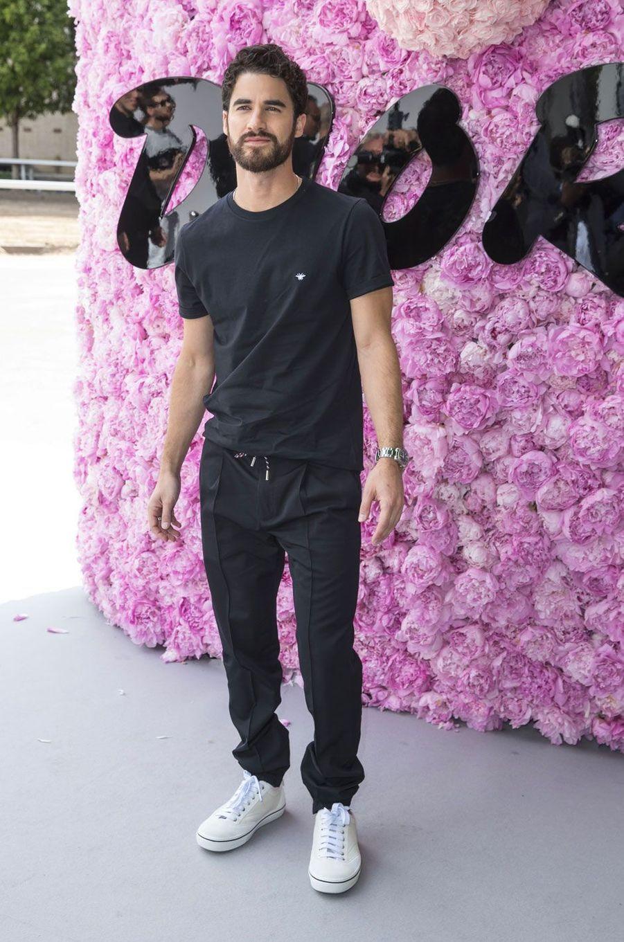 Darren Criss au défilé Dior Homme, à Paris le 23 juin 2018