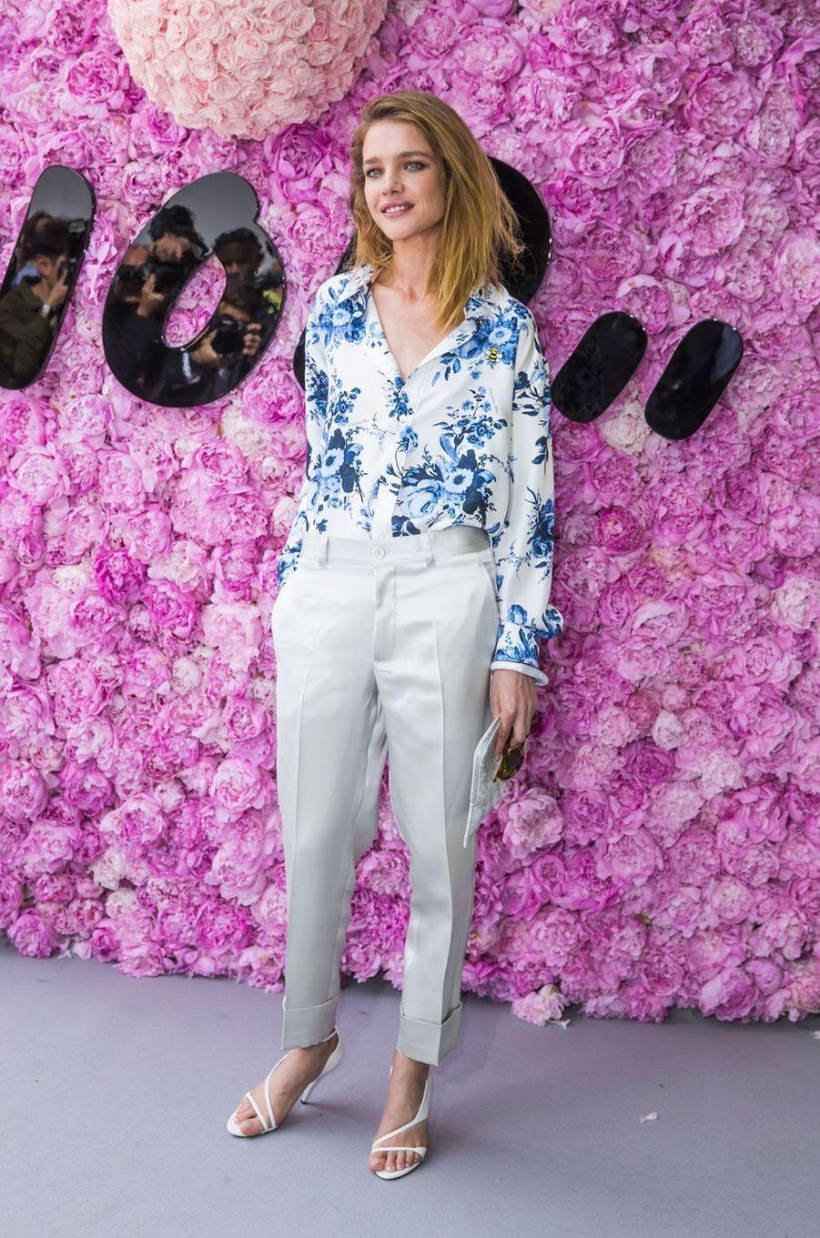 Natalia Vodianova au défilé Dior Homme, à Paris le 23 juin 2018