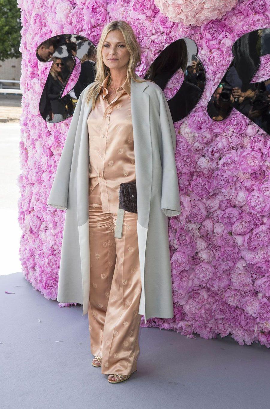 Kate Moss au défilé Dior Homme, à Paris le 23 juin 2018