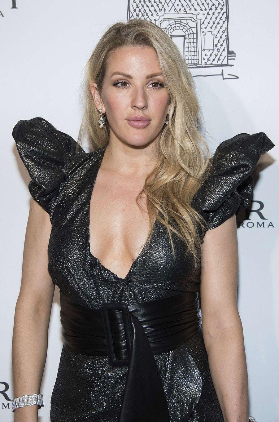 Ellie Goulding lors de l'inauguration de la nouvelle boutique Bulgari à New York, le 20 octobre 2017.