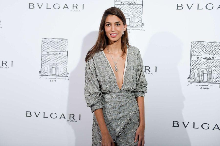 Marina Testino lors de l'inauguration de la nouvelle boutique Bulgari à New York, le 20 octobre 2017.