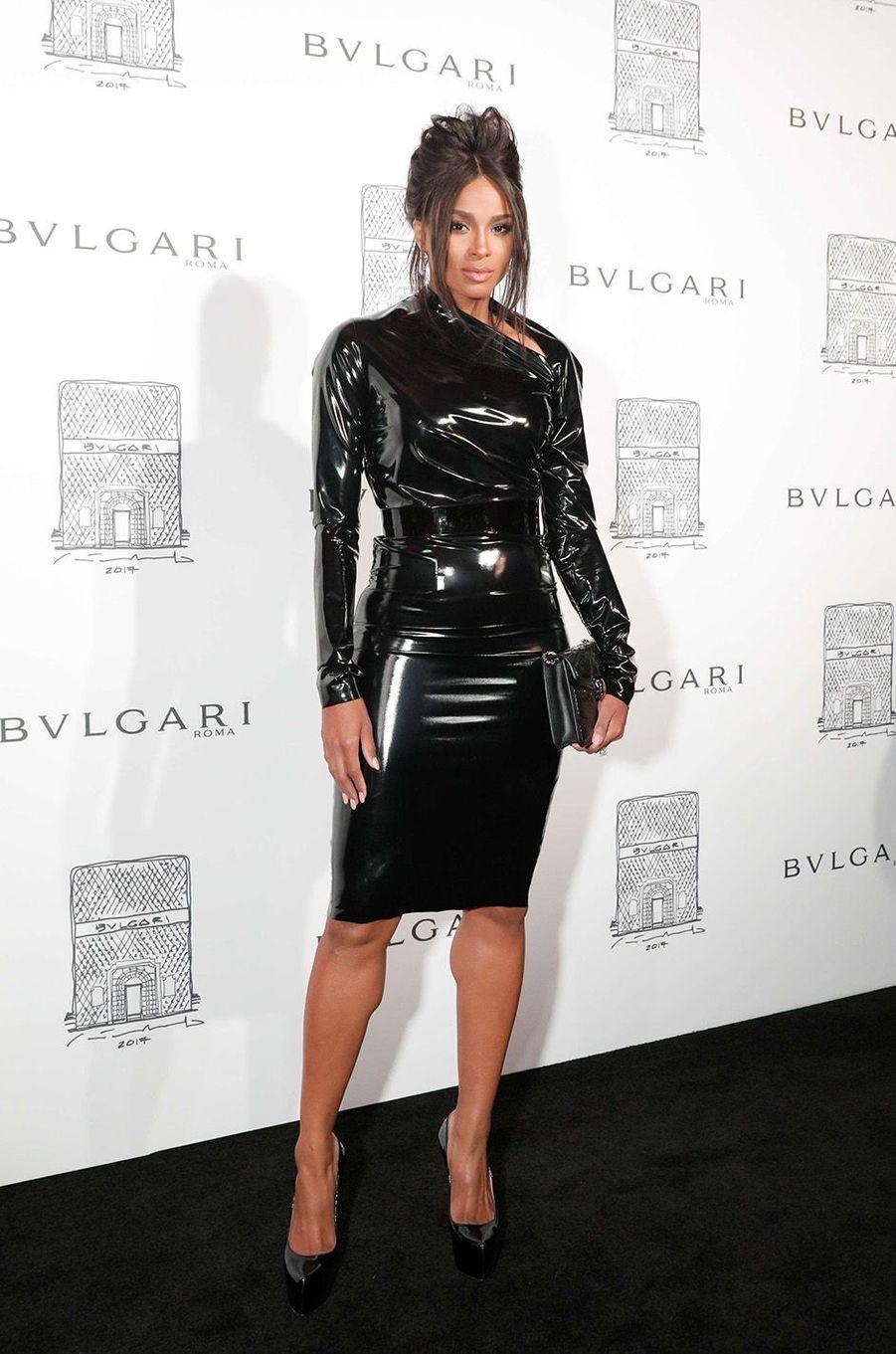 Ciara lors de l'inauguration de la nouvelle boutique Bulgari à New York, le 20 octobre 2017.