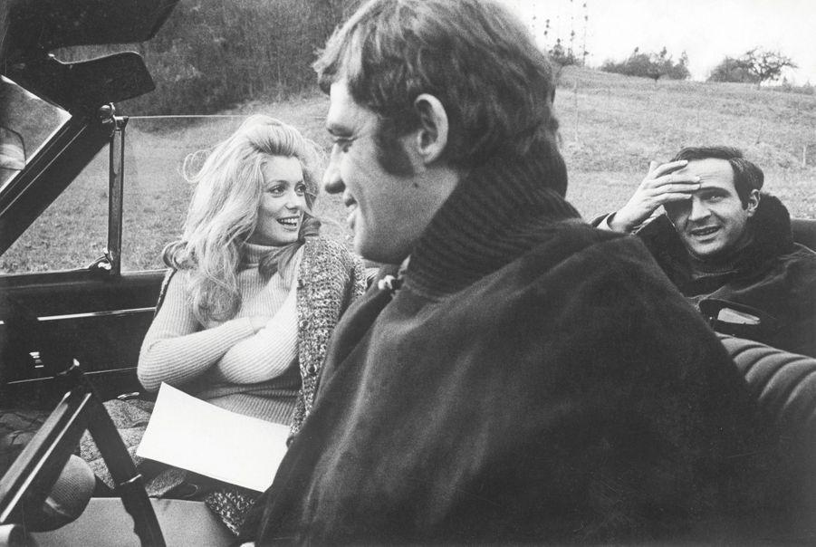 Le tournage de «La sirène du Mississipi», en 1969, de François Truffaut, avec Catherine Deneuve.