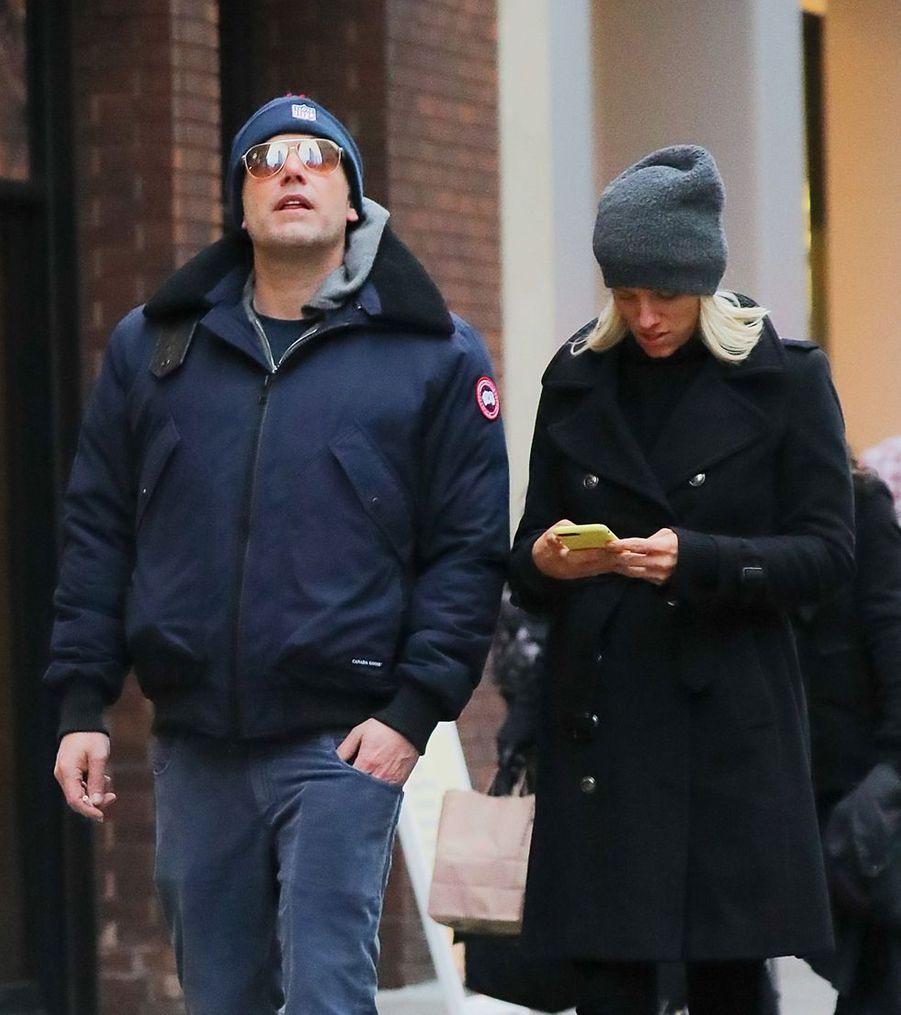 Ben Affleck et Lindsay Shookus à New York le 1er mars 2019