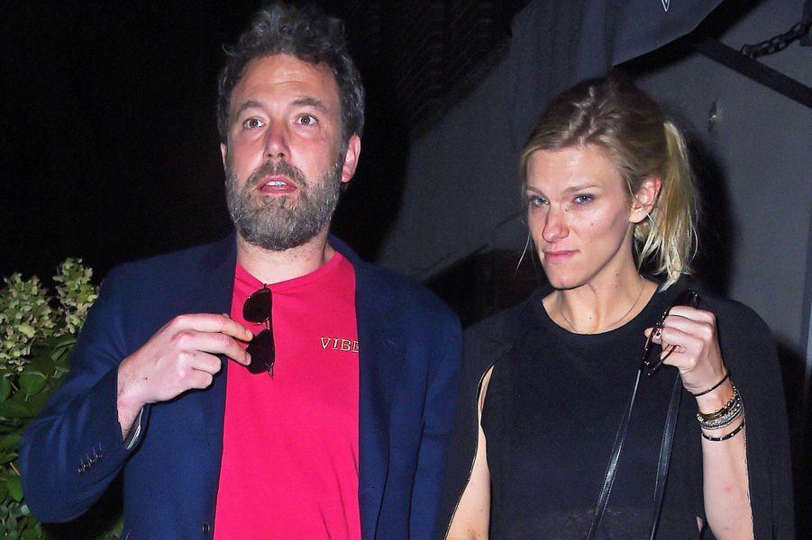 Ben Affleck et Lindsay Shookus à New York, le 20 août 2017.