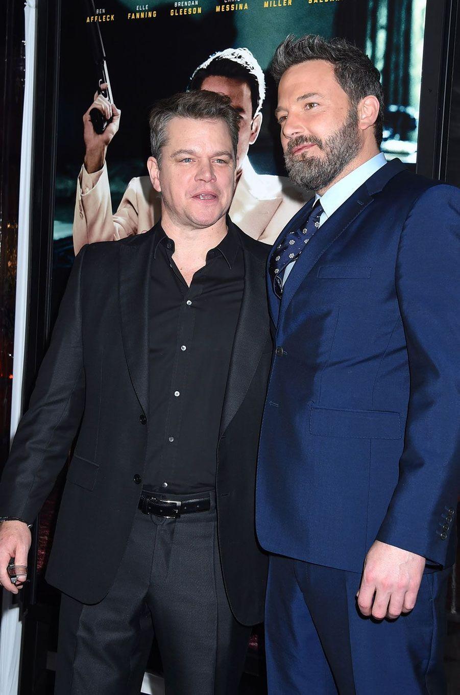 """Ben Affleck et Matt Damon à l'avant-première de """"Live By Night"""""""