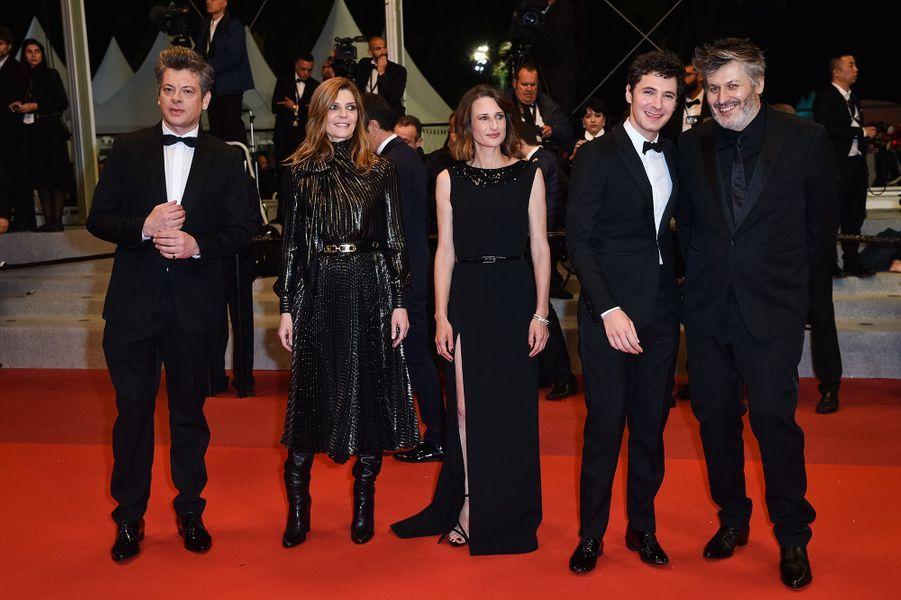 Benjamin Biolay, Chiara Mastroianni, Camille Cottin, Vincent Lacoste, Christophe Honoré (tous habillés enCELINE by Hedi Slimane)