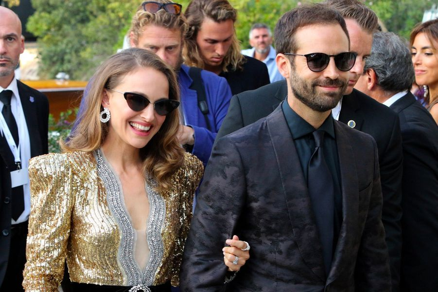 Natalie Portman et Benjamin Millepied à Venise, mardi 4 septembre