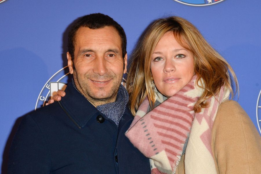 Zinedine Soualem et sa compagne Caroline Faindt.