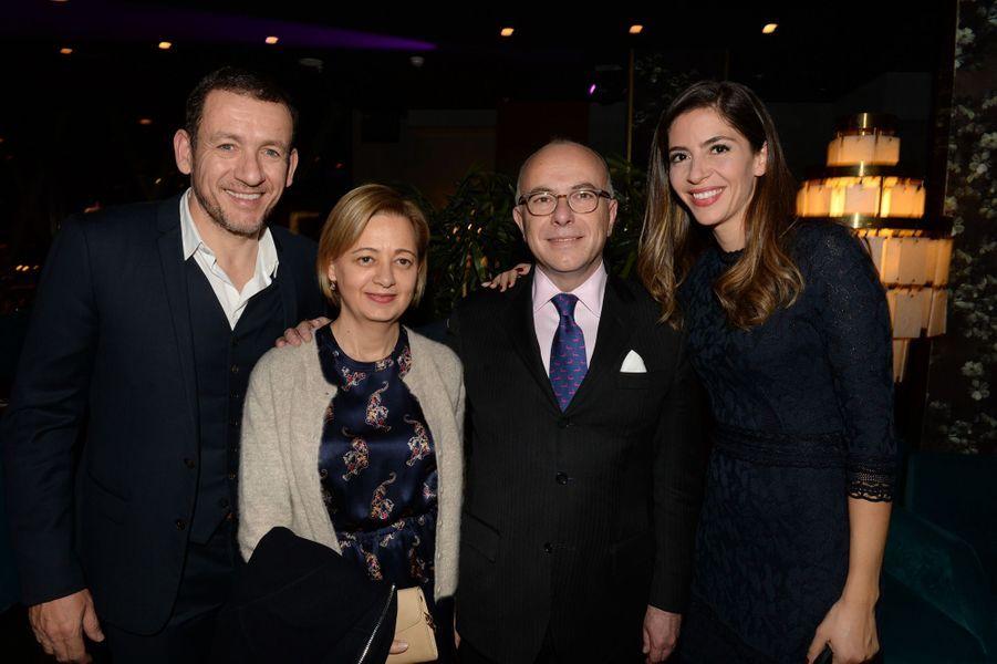 Dany Boon, Véronique et Bernard Cazeneuve et Yaël Boon.