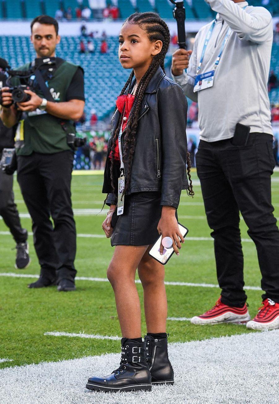Blue Ivy lors du Super Bowl à Miami le 2 février 2020