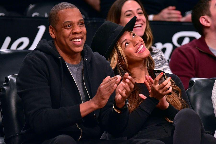 Beyoncé et Jay-Z le 12 janvier 2015