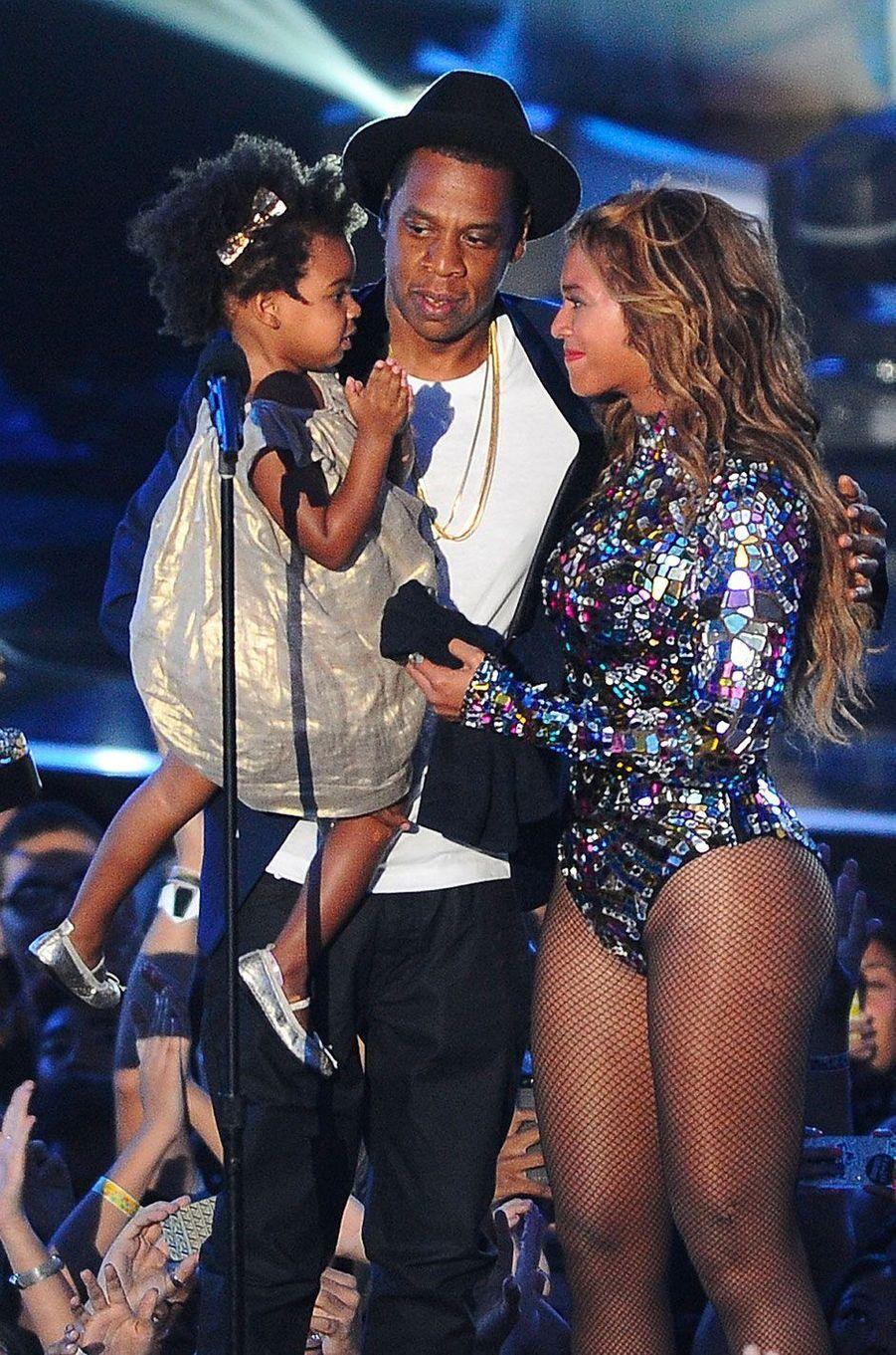 Beyoncé, Jay-Z et Blue Ivy le 24 août 2014