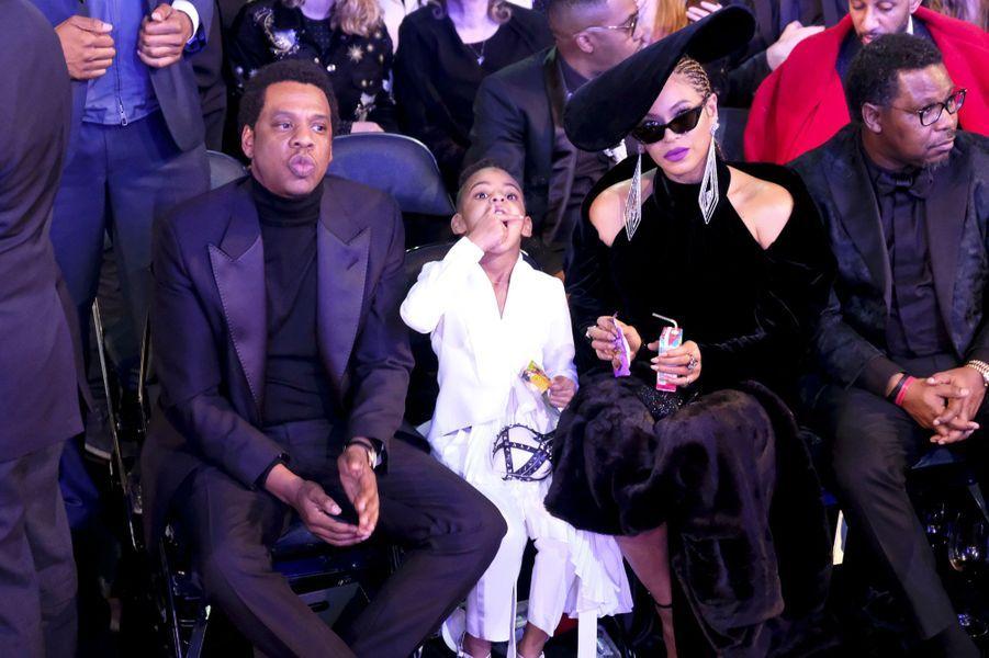 Beyoncé, Jay-Z et Blue Ivy le 28 janvier 2018
