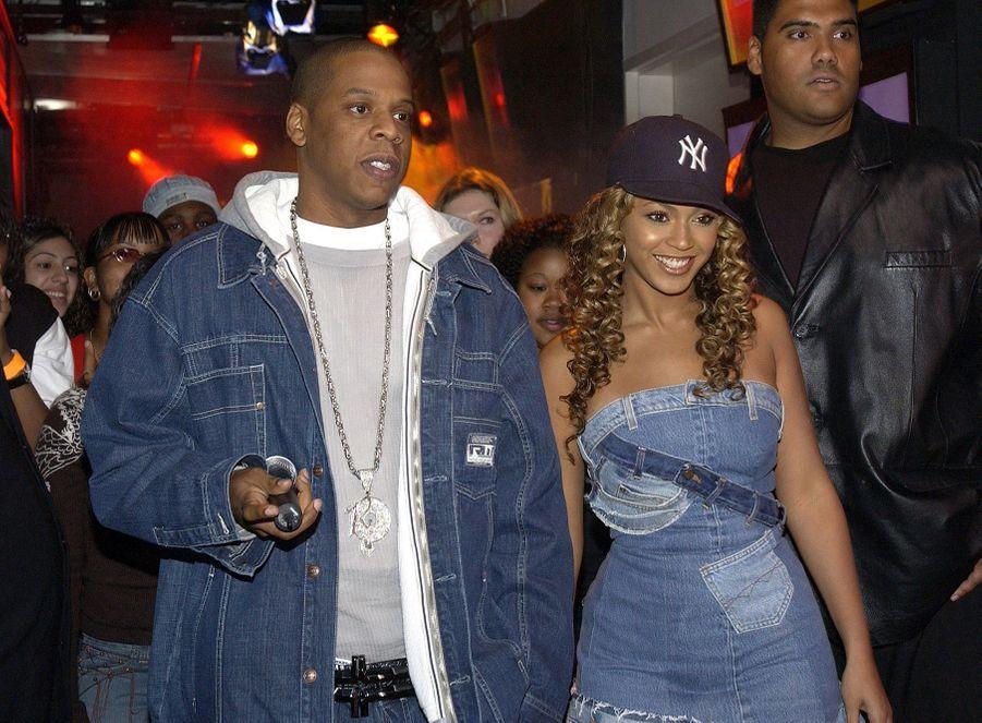 Beyoncé et Jay-Z à New York en 2002