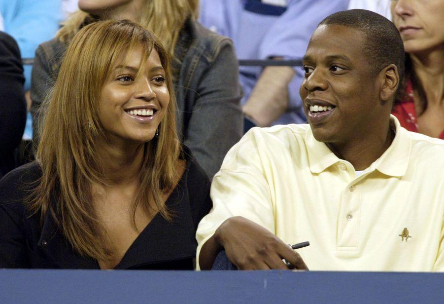 Beyoncé et Jay-Z lors de l'US Open à New York en 2003