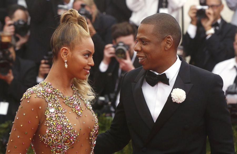 Beyoncé et Jay-Z au Met Gala en 2015