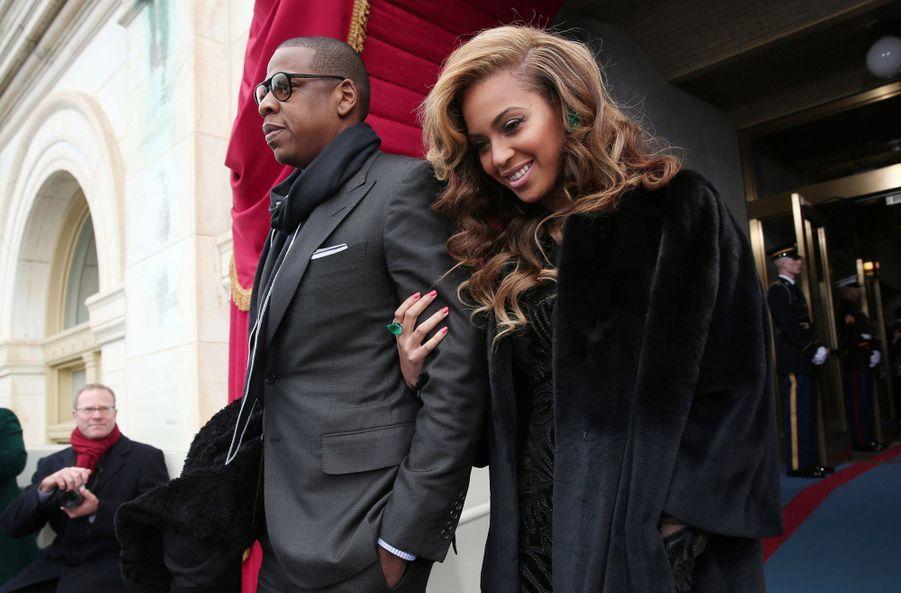 Jay-Z et Beyoncé lors de la seconde investiture de Barack Obama en 2013
