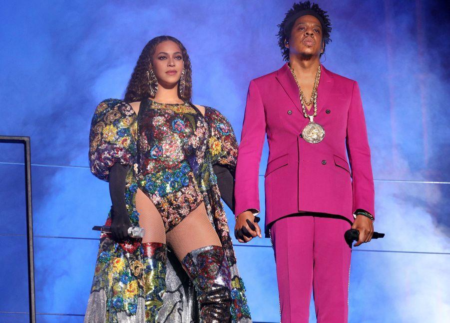 Beyoncé et Jay-Z en concert à Johannesburg en 2018
