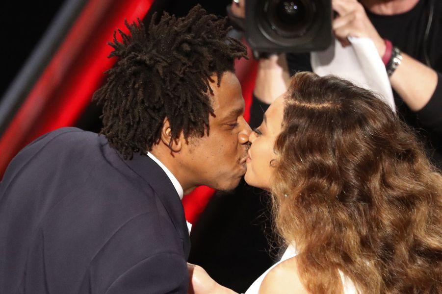 Jay-Z et Beyoncé lors des NAACP Image Awards à Los Angeles le 30 mars 2019