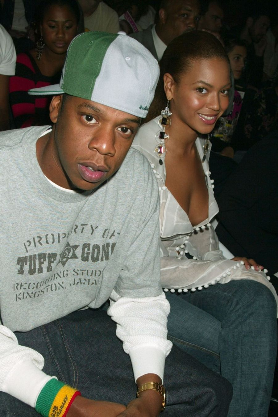 Jay-Z et Beyoncé lors de la Fashion Week à New York en 2003