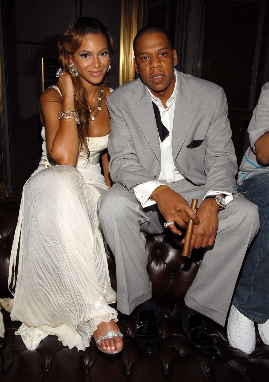 Beyoncé et Jay-Z lors d'une soirée à New York en 2006