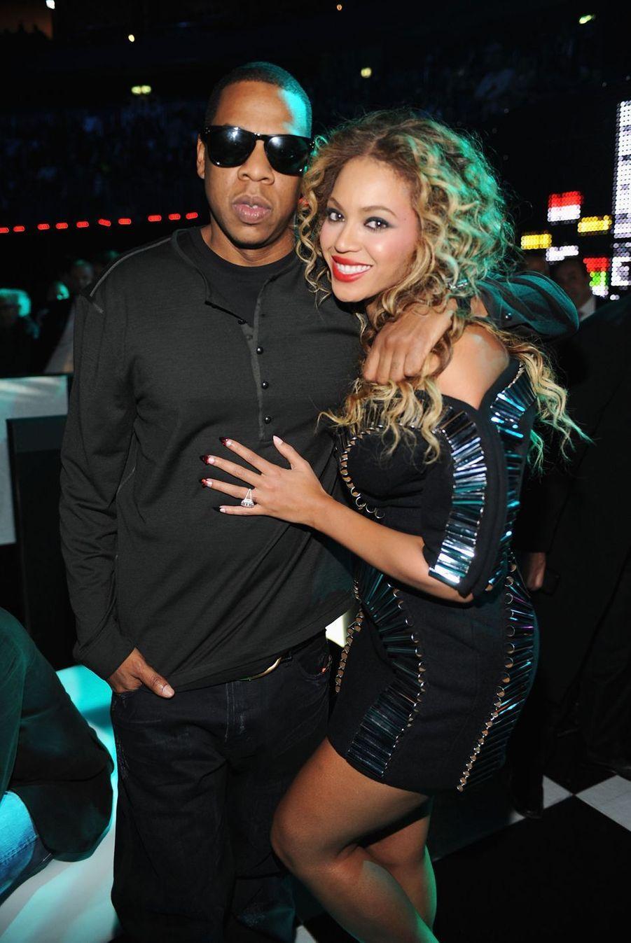 Beyoncé et Jay-Z dans les coulisses des MTV Europe Music Awards à Berlin en 2009