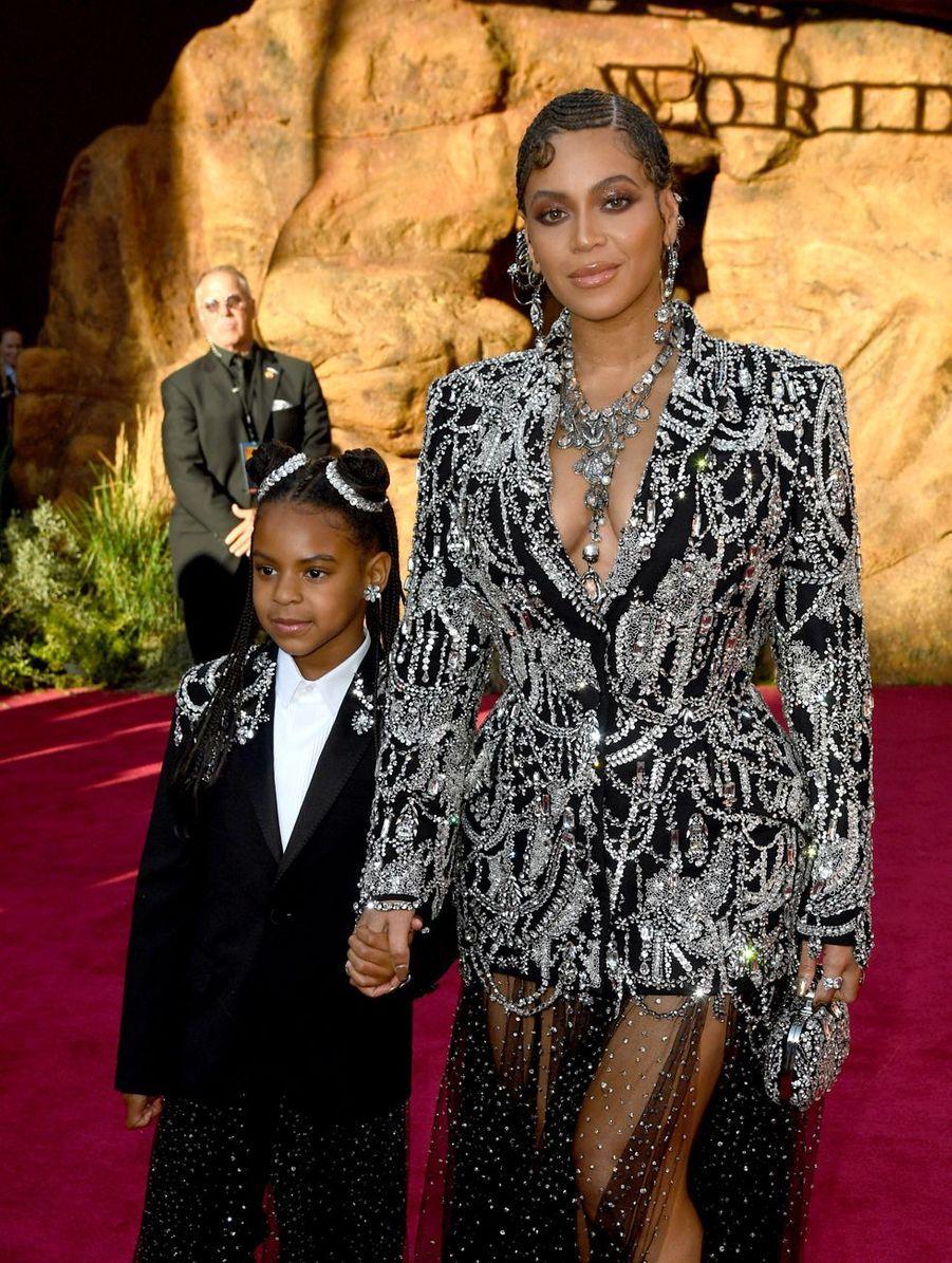 Beyoncé et sa fille Blue Ivy à Los Angeles, le 9 juillet 2019