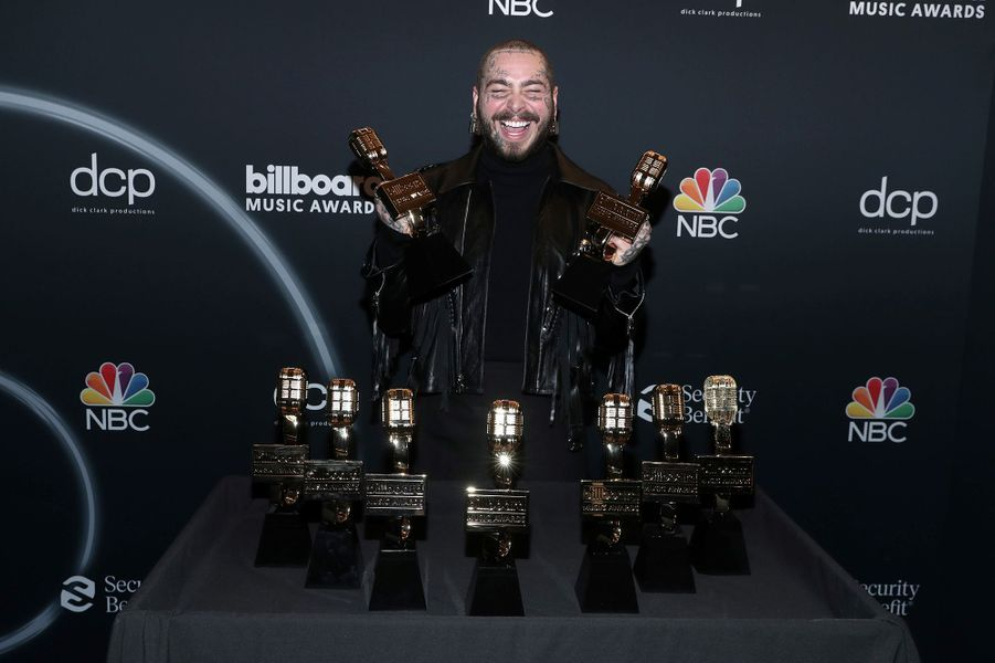 Post Malone aux Billboard Music Awards à Los Angeles le 14 octobre 2020