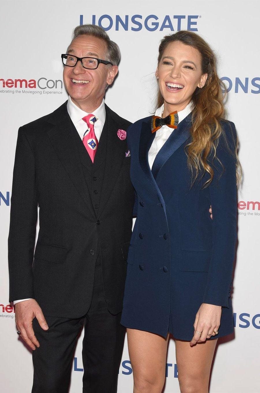 Paul Feig et Blake Lively à la soirée Lionsgate CinemaCon 2018 au Caesars Palace à Las Vegas, le 26 avril 2018